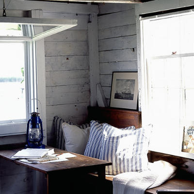 apartment5th:  Coastal Living {rustic window seat} by recent settlers on Flickr.