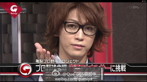 kamenized:  salapao:  Going! Sports&News 2011.08.28 :: Kame ☆  Dead . Dead i am . Dead .