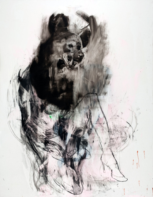 darksilenceinsuburbia:  Antony Micallef. Hiena. Oil and charcoal on linen, 140cm x 180cm.