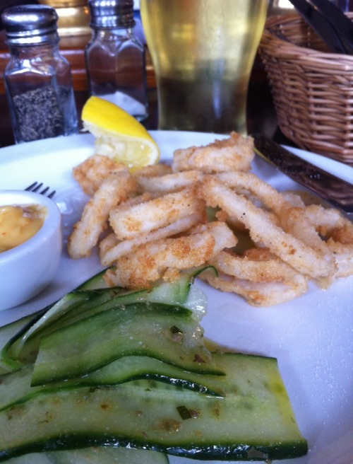 CALAMARI, CUCUMBER & CIDER. SUNDAY AFTERNOON HEAVEN.