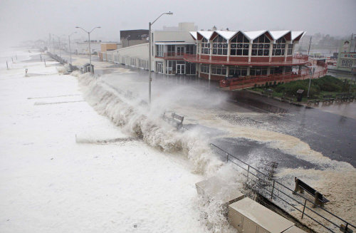 maniagem:  Asbury Park, New Jersey. And some say this hurricane was a joke…? Photo courtesy of The New York Times.