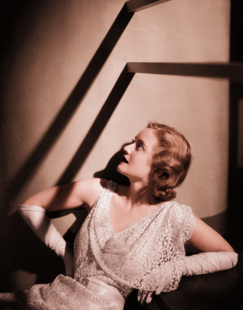 "theflapperfactor:  Bette Davis; to fabulous for words. Ever wonder why Bette Davis gets so much crap? it's because she said what every actress in Hollywood thought, but would never dream of uttering. She was a lot like Clara Bow in the fact that she realized she was not going to make it on looks (in her opinion) so trying to act like every other girl in Hollywood simply wouldn't cut it. She was a mud slinging rebel, unafraid to get her hands (or her mouth for that matter) dirty. And again, like Clara Bow, she became both as popular as the mini skirt and as feared as the plague. This combination of reproach and admiration is what makes an it girl. The paradox is that while you are the hot new thing, you are also, as Clara put it, ""A big fat freak, Cause' I'm myself."" Bette even went on a speaking tour later in life, doing and saying things that would make Joan piss in her pants with delight. Bette called almost every actress imaginable a bitch and told hilarious stories of her life in Hollywood. What was shocking to everyone, was that this boosted her popularity to an almost unheard of level. It can be argued that without this speaking tour, she might not be nearly as well remembered as she is today. What I find so endearing about Bette is that she is absolutely ruthless, unquestionably powerful, and simply, undoubtedly Bette."