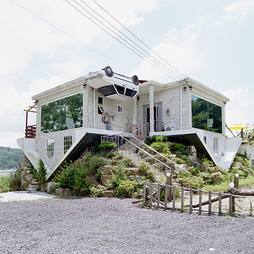 gaksdesigns:  Upside Down House located in South Korea. Photo by Juliane Eirich.
