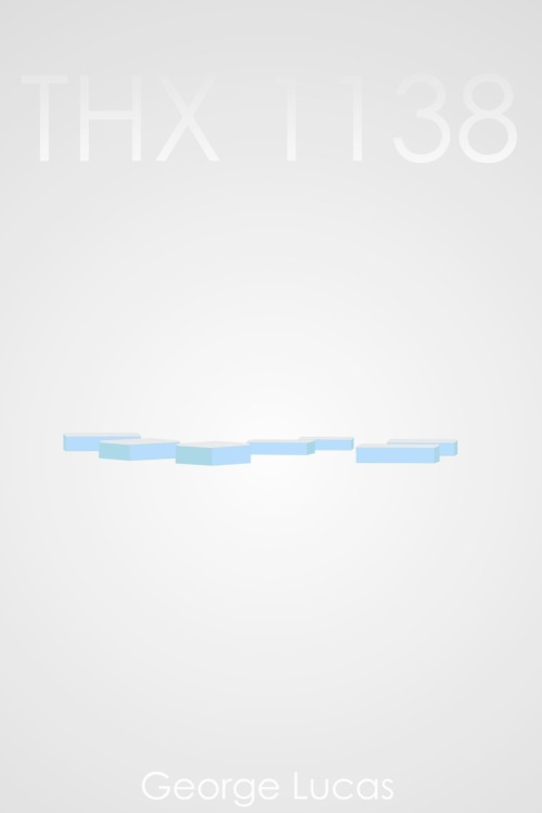 THX 1138 minimalist poster. 24 x 36inch. created with AI.