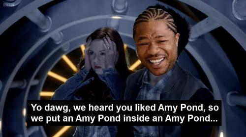 ihastheforce:  Yo dawg, we heard you liked Amy Pond, so we put an Amy Pond inside an Amy Pond…