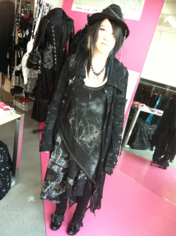 deathful:  My coordinate for Sunday of jpop summit! Last day working for the h.naoto pop-up shop!