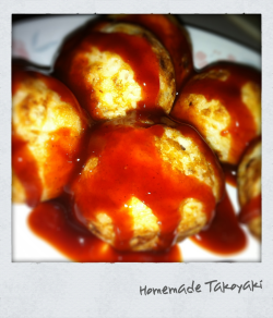 Homemade Takoyaki by my mom! Yummm!
