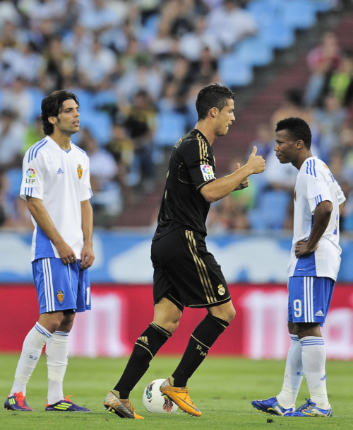 amistosa:  28 August 2011: Cris celebrates his goal vs. Zaragoza.