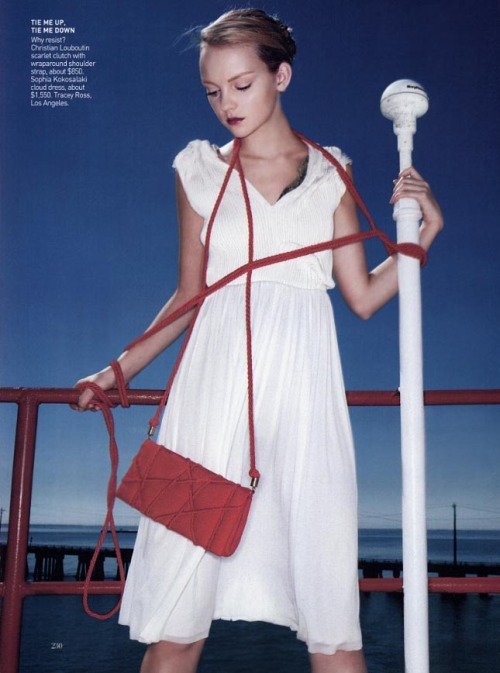 """Outward bound""  Heather Marks by Raymond Meier for Vogue US May 2005"