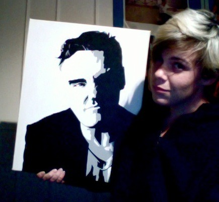 Back when I was once painting. My favourite Morrissey canvas I've done.