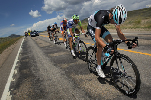 BRECKENRIDGE, CO - AUGUST 27: (R-L) Andy Schleck of Luxembourg riding for Leopard-Trek works at the front of the breakaway ahead of Ivan Basso of Italy riding for Team Liquigas-Cannondale and Laurens Ten Dam of the Netherlands riding for Team Rabobank during stage five of the 2011 USA Pro Cycling Challenge from Steamboat Springs to Breckenridge on August 27, 2011 in Kremmling, Colorado. (Photo by Doug Pensinger/Getty Images) (via (R-L) Andy Schleck Of Luxembourg Riding For Leopard-Trek Works At The Front Of The Breakaway Ahead Of Ivan Basso Of - Yahoo! Sports Photos)