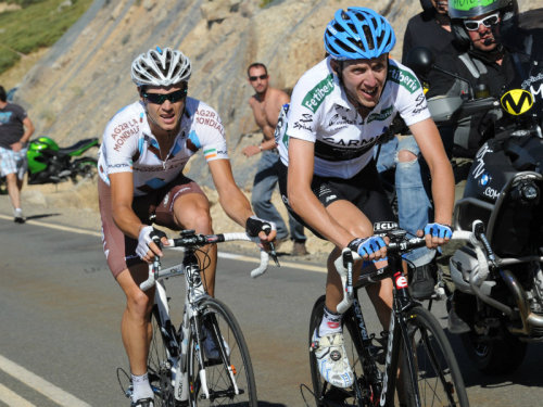 Vuelta a Espana 2011 | Stage 9 Cousins Dan Martin and Nicolas Roche tried to forge ahead but Roche didn't have the legs to keep at it.  (via Team Sky | Pro Cycling | Photo Gallery | Vuelta stage nine gallery)