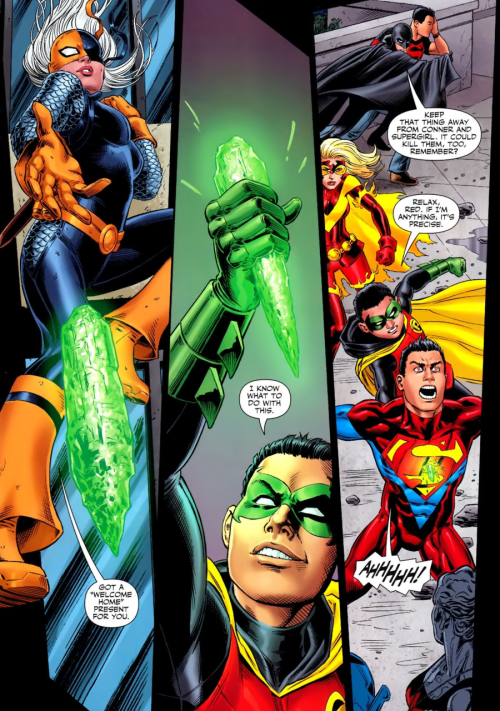 makos-hipster-scarf:  fycomicbookfriendships:  Teen Titans v3 #100 Perfect assassin babies!   Damian is the cutest Assassin baby ever <3