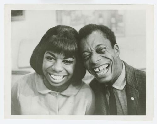 James Baldwin and Nina Simone circa 1960s. Via the Schomburg Center for Research in Black Culture.