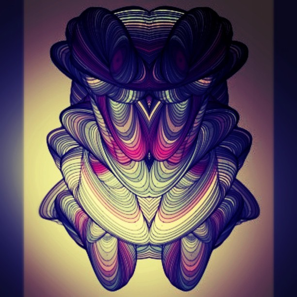 #luminous #symmetric #wurm #thing (Taken with instagram)