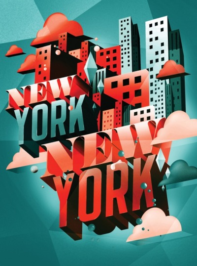 weandthecolor:  New York New York Illustrated type treatment by I Love Dust for Time Out Magazines feature on NYC. More graphic design inspiration. posted byW.A.T.C. // Facebook // Twitter // Google+