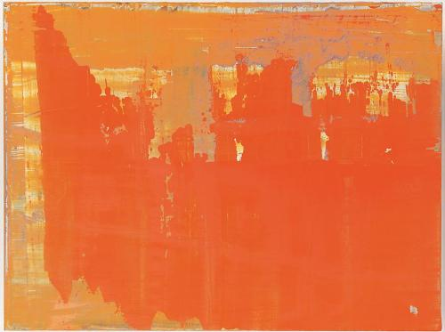 Gerhard Richter. Abstract painting (906-13), 2008. Oil on wood,  11 3/4 X 15 3/4 in.