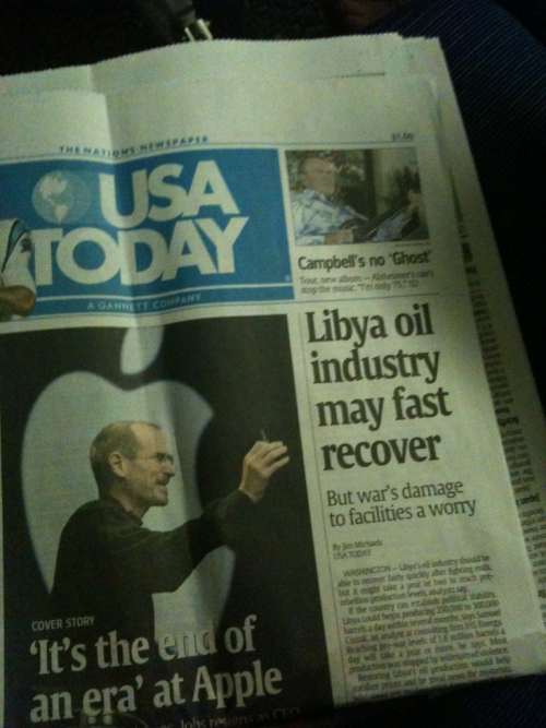 This headline on USA Today contains a typo. Split infinities. My grade three language arts teacher would be mortified.   SFO.