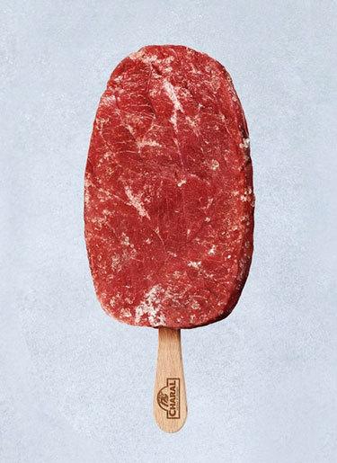 izmia:  Meatsicle  Also Today: Test Tube Burgers: The World Of In Vitro Meat