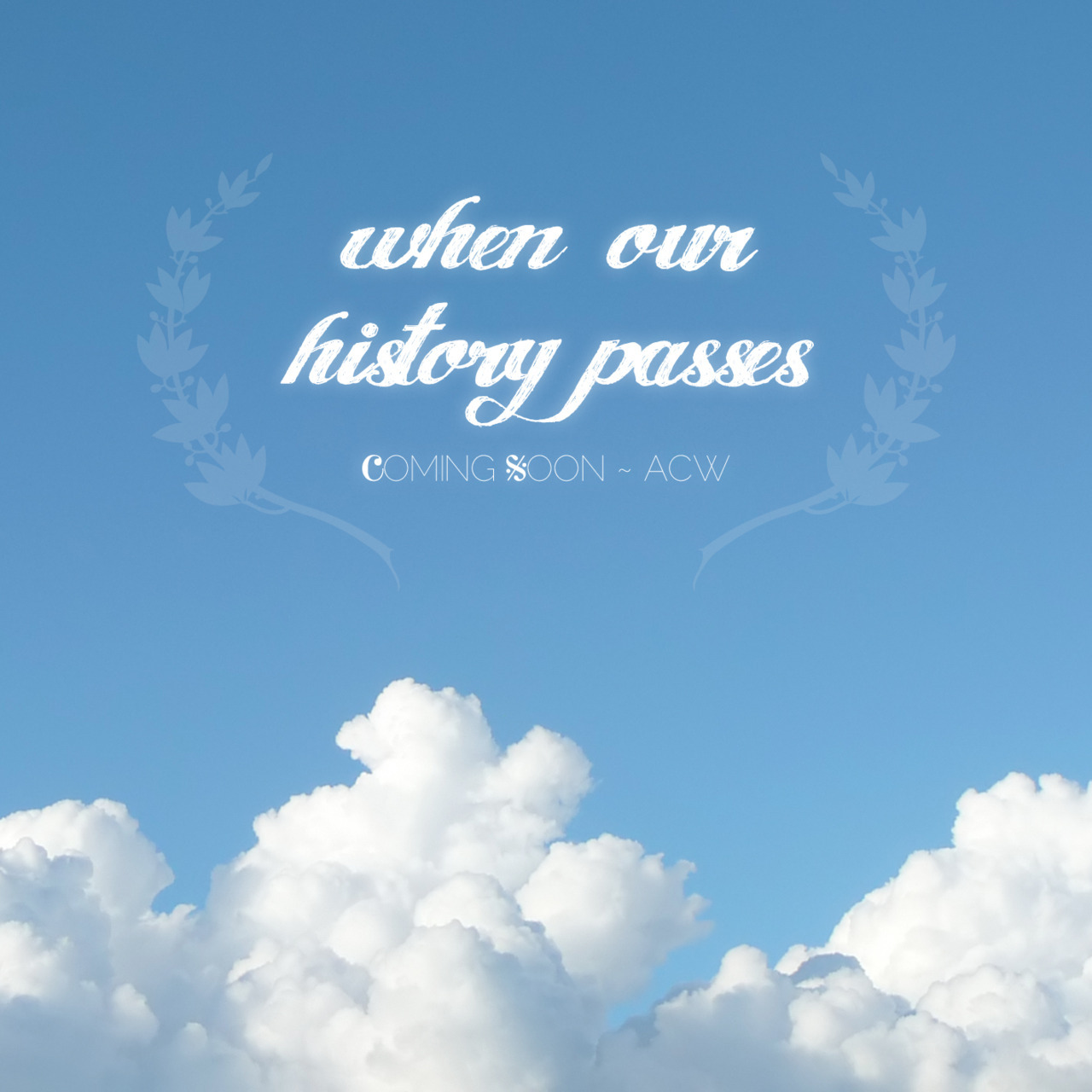"""When Our History Passes"" - another song I wrote (I'm on a roll this summer!) Woke up today with the melody and lyrics in my head and banged it out in a few hours :) Working on the recording in the next week or so."