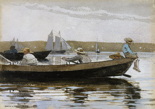 arthistoryeveryday:  Boys in a Dory by Winslow Homer (1873)