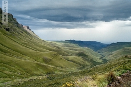 "indigosilhouette:  South Africa ""Down from Lesotho"" by katjaharbiphotography on Flickr."
