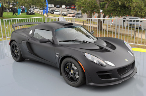 Lotus Exige Matte Black Final Edition. Photo via cotiquan.