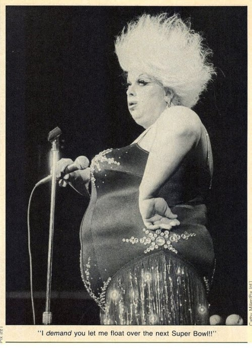 """I demand you let me float over the next Super Bowl""  Divine"