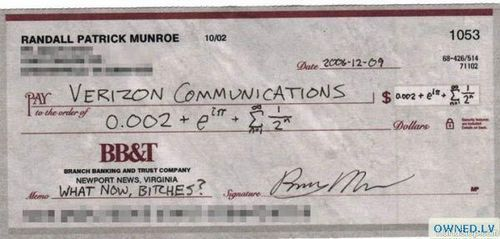 theclearlydope:  Clearly I need Randall writing my checks to AT&T.   LOL