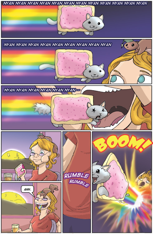 rlfcomic:  Nyan cat is one vicious mofo! D= From my webcomic Real Life Fiction Main site has more content!