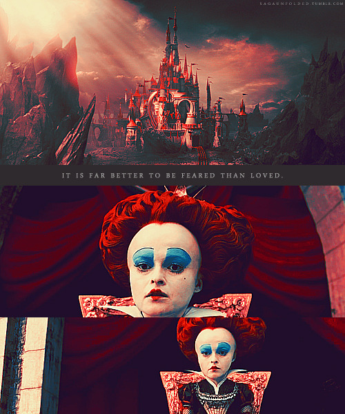 sagaunfolded:  Alice In Wonderland • Favorite Caps Request • The Red QueenAlice in Wonderland » Movie - IMDb