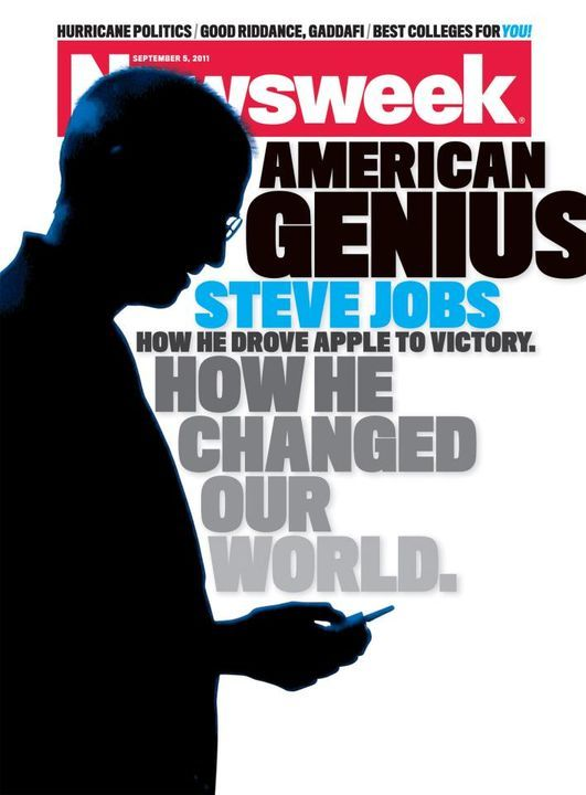 This week's Newsweek cover features Steve Jobs. (Source)