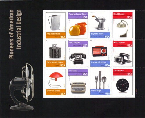 Stamps. Pioneers of American Industrial Design. 2011