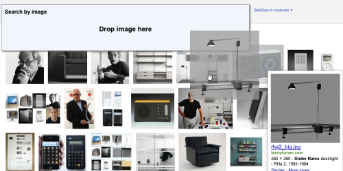 Google Images – When dragging a photo on the page or into the browser, the search input changes to support drag'and'drop. /via Tor Løvskogen Bollingmo