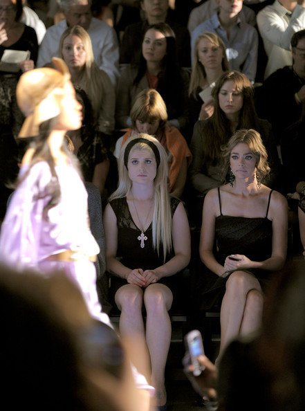Thats me! In the third row behind Kelly Osbourne and Denise Richards at last years Tracey Reece show.