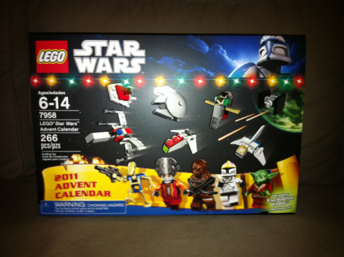 LEGO Advent Calendar:   can't wait for Christmas