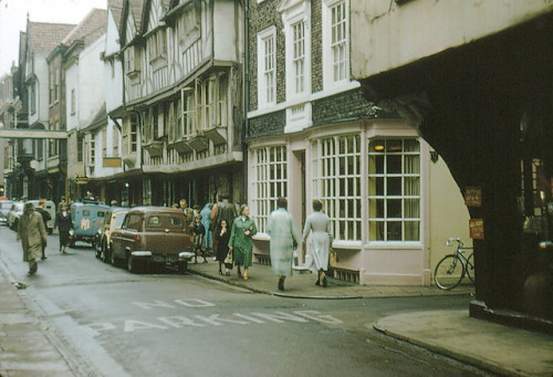 itsluk3:  1950s York, England - Stonegate by doveson2008 on Flickr.
