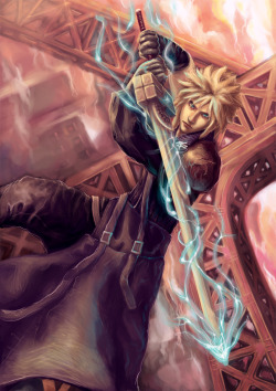 geeksngamers:  Cloud Strife - by Reaper-Bunny