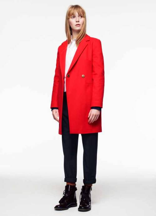 ASOS F/W Lookbook Flame Coat I pretty much want to live in this color.