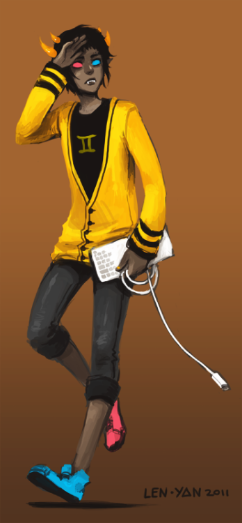 len-yan:  a quick sollux as an attempt on cheering myself up ;v;
