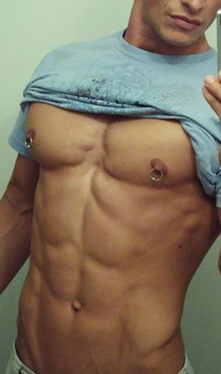 supervillainl:  Reach for the rings.  Sexy pecs, abs too!