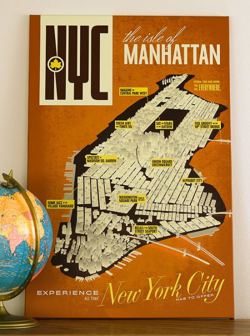 michalva:  NYC the isle of Manhattan Poster three steps ahead