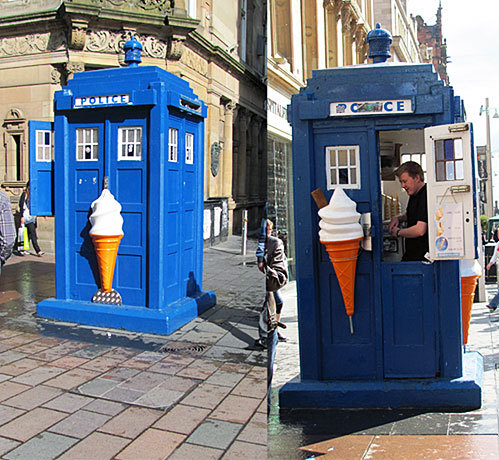 Reasons why everybody should come to Glasgow: We have a TARDIS, which sells ice cream.