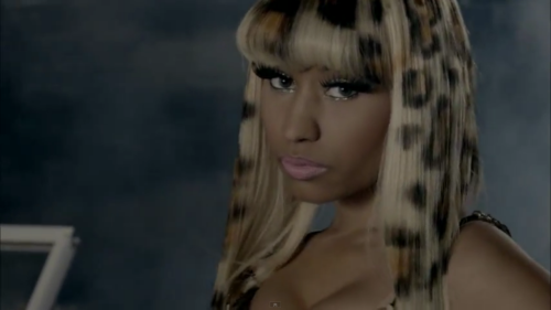 "I want leopard hair! (From Nicki and Rih's ""Fly"" music vid)"