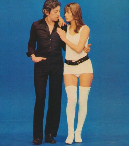 phoebluh:  Serge Gainsbourg and Jane Birkin