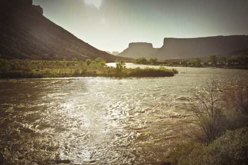 ROAD TRIP image no. 235 The Colorado River at the crack of dawn, from US 128, Moab, Utah July 2nd, 2011 + click through to see larger