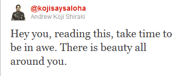 Dear Koji, I needed to see this today. Thank you.