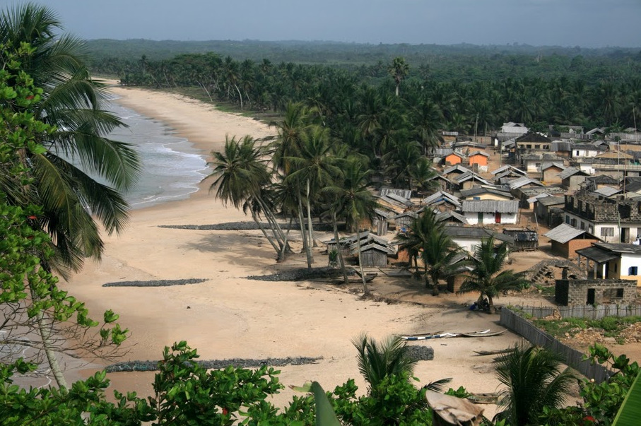 Picturesque Ghana!An ocean front town in the Eastern Region