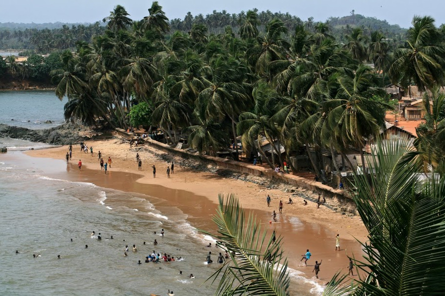 Picturesque Ghana! An ocean front town in the Eastern Region