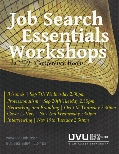 Don't miss out on this incredible opportunity to learn job search essentials, such as resume writing, branding & networking, and writing cover letters!